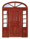 Entry Doors / mahogany wood fiberglass doors glass