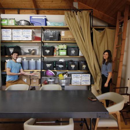 organized wooden shelves
